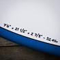 Torq Mod Fun TET-CS 7'6 x 21 1/2 x 2 7/8 Surfboard - Dims