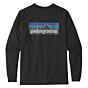Patagonia P-6 Logo Long Sleeve T-Shirt - Black