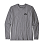 Patagonia Fitz Roy Scope Long Sleeve Responsibili-T-Shirt - Gravel Heather