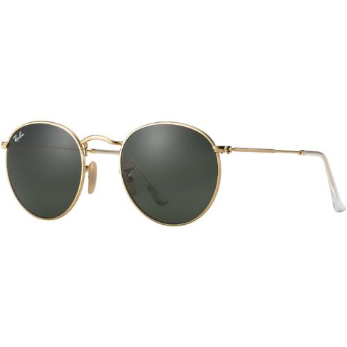 Ray-Ban Round Metal Sunglasses - Arista/Crystal Green