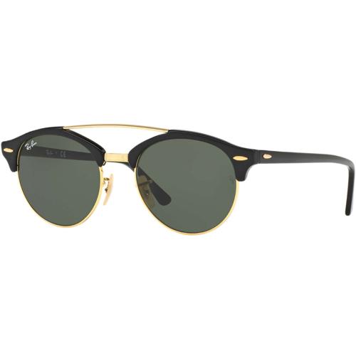 Ray-Ban Clubround Sunglasses - Black/Green