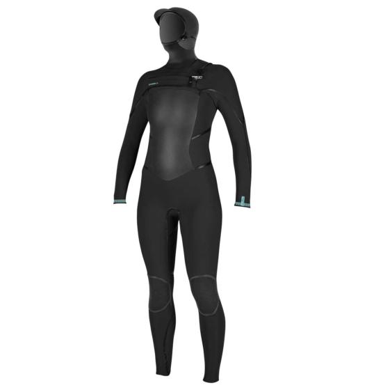 O'Neill Women's Psycho Tech 5.5/4 Hooded Chest Zip Wetsuit